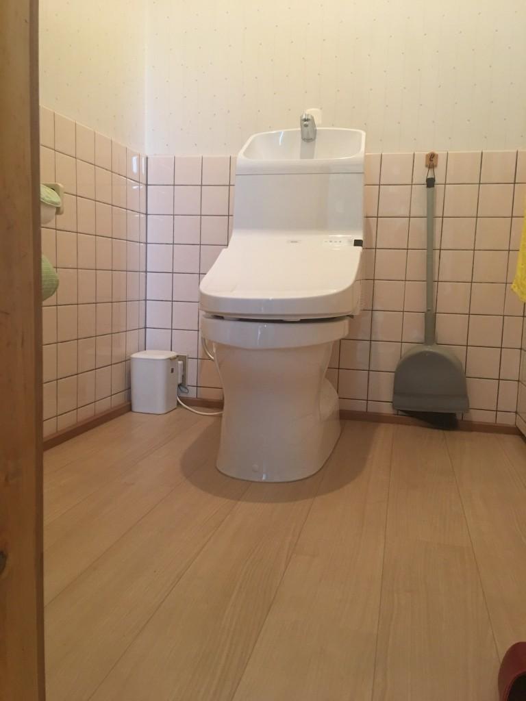 【山梨県】トイレ取替他工事