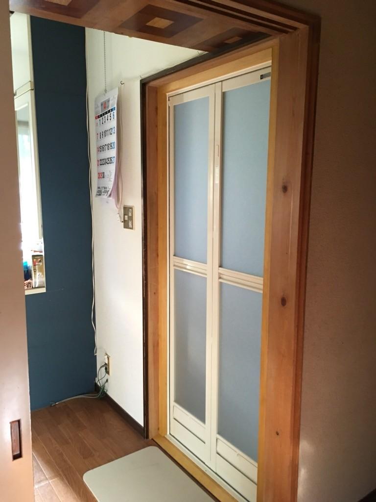 浴室ドア 交換工事