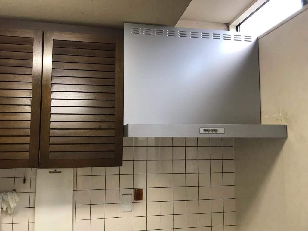 キッチン換気扇取替・内装工事