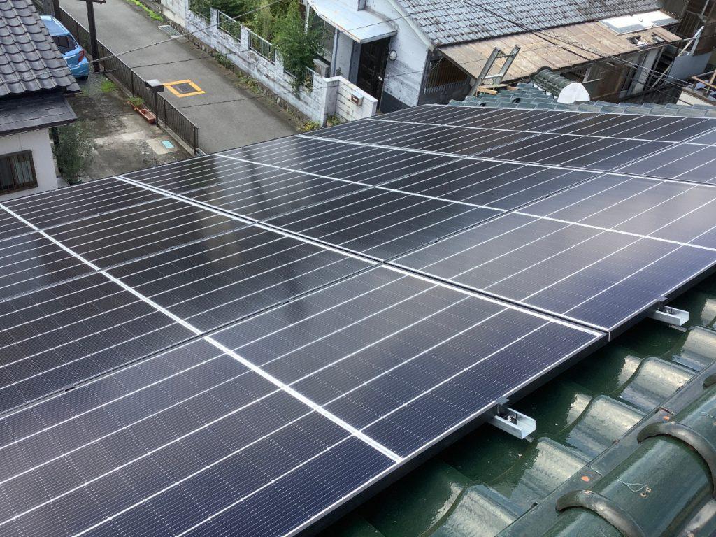 【中央市】太陽光発電工事AFTER画像